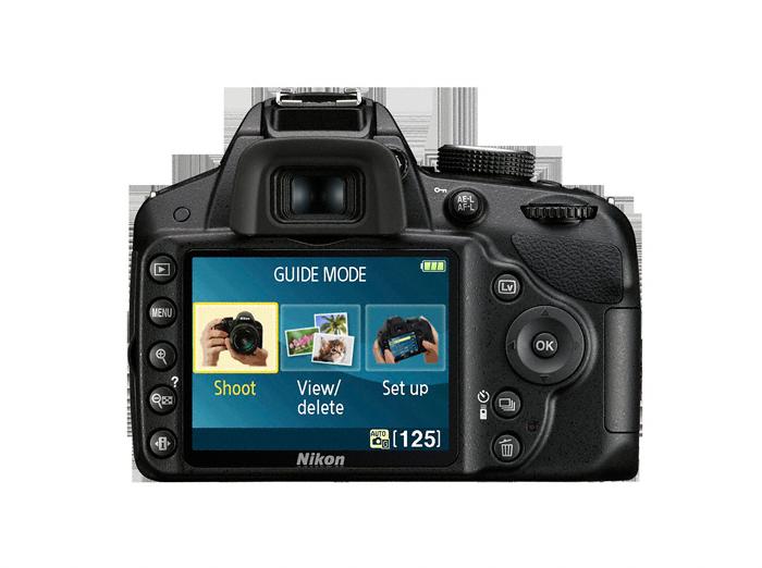 Über das große 3 Zoll Display können die Bilder direkt auf der Kamera bearbeitet werden