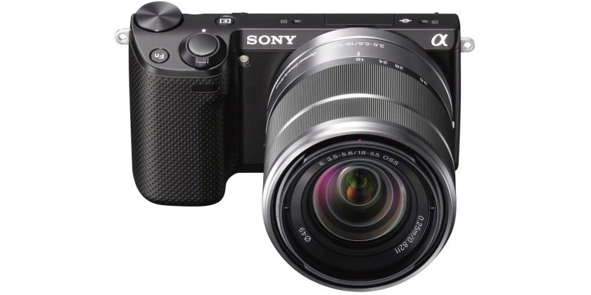 Sony NEX-5R spiegellose Systemkamera mit Objektiv